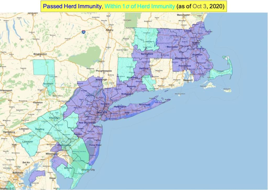 This image has an empty alt attribute; its file name is northeast_immunity_map_oct-1.jpeg